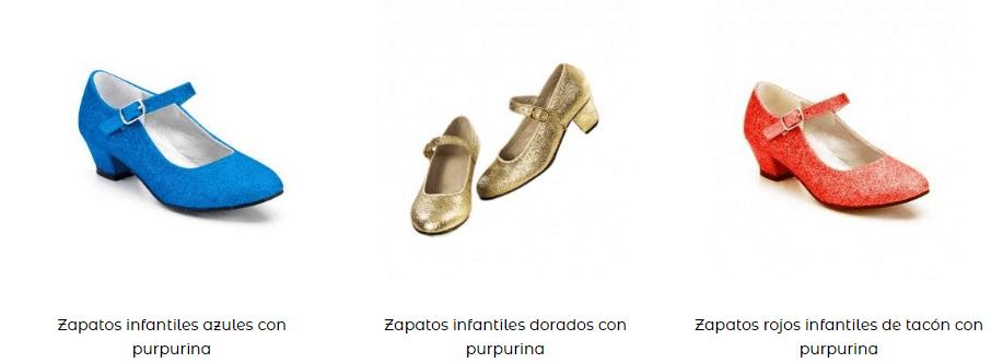 Zapatos disfraz princesas complementos idóneos