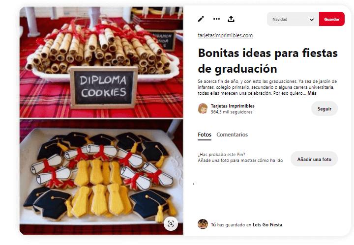 Fiesta graduacion comida facil galletas barquillos