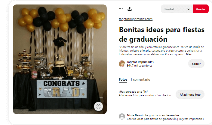 Fiesta graduacion decoracion dorado