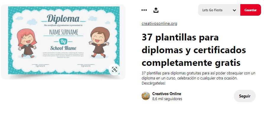 Fiesta graduacion entrega de diplomas plantilla