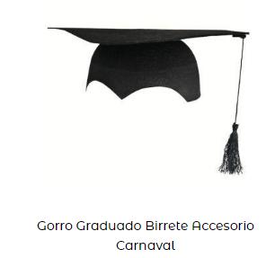 Fiesta graduacion gorro birrete disfraz adulto