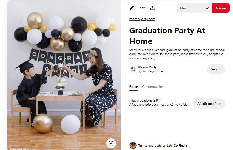 Fiesta graduacion sencilla barata infantil adultos