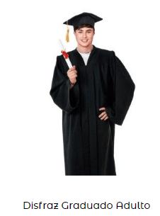 Fiesta graduacion toga disfraz adulto