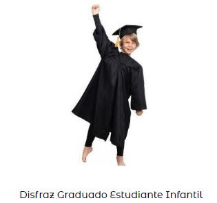 Fiesta graduacion toga disfraz infantil