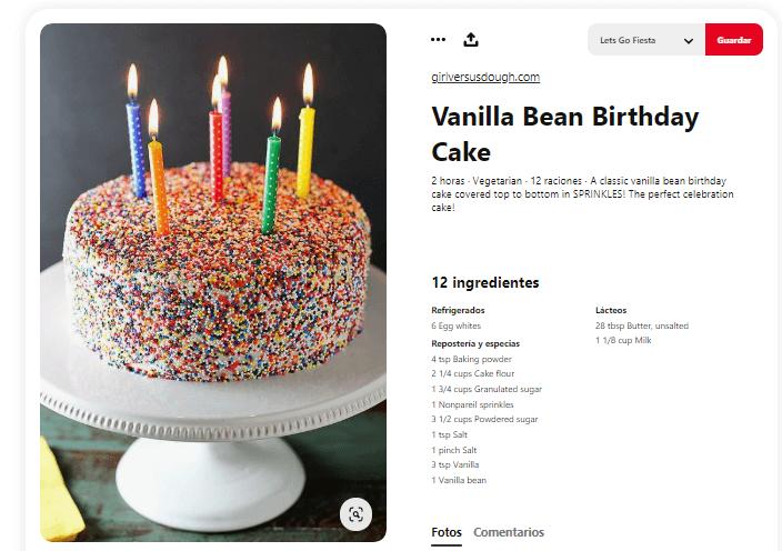 Origen del cumpleaños tarta velas