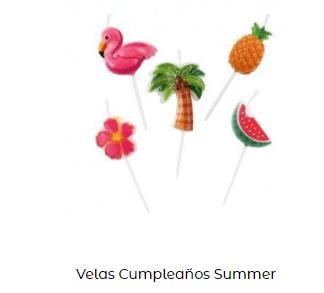 Velas de cumpleaños originales flamencos rosas hawaina