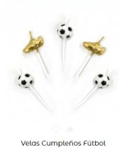 Velas de cumpleaños originales futbol