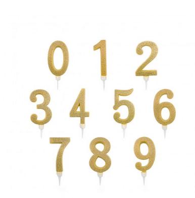 Velas de cumpleaños originales gigantes doradas