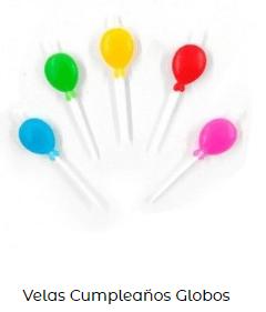 Velas de cumpleaños originales globos