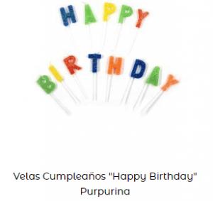 Velas de cumpleaños originales happy birthday