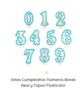 Velas de cumpleaños originales números con topos