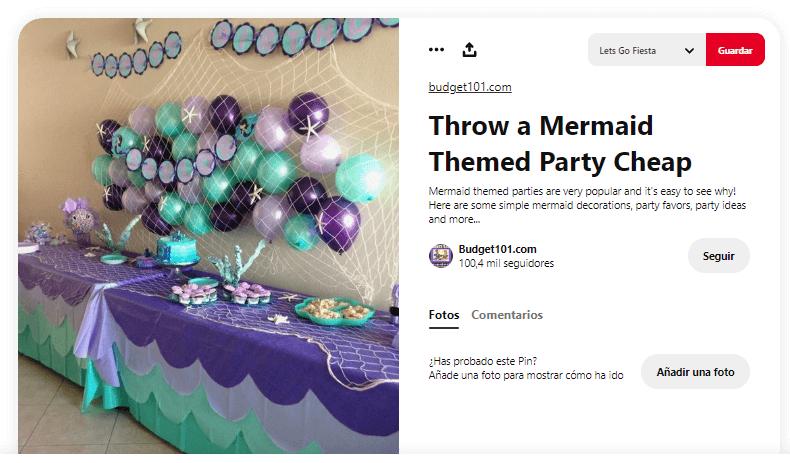 como decorar mesa de cumpleanos sirenas fiesta infantil