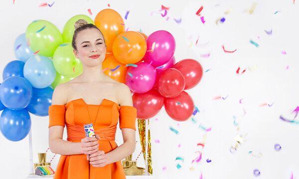 decoración con globos cumpleaños
