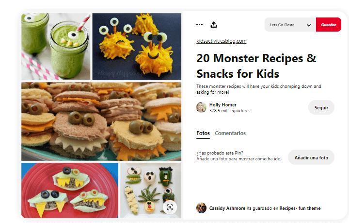 decorar mesa de cumpleanos comida bocadillos monstruos