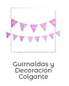 decorar mesa de cumpleanos guirnaldas