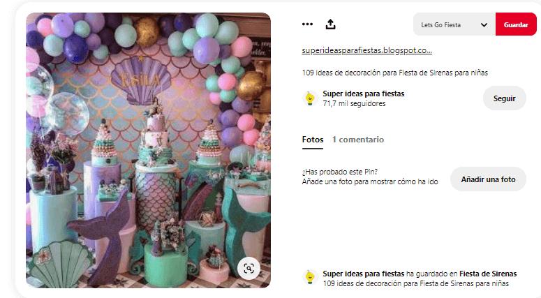 decorar mesa de cumpleanos sirenas fiesta infantil ideas
