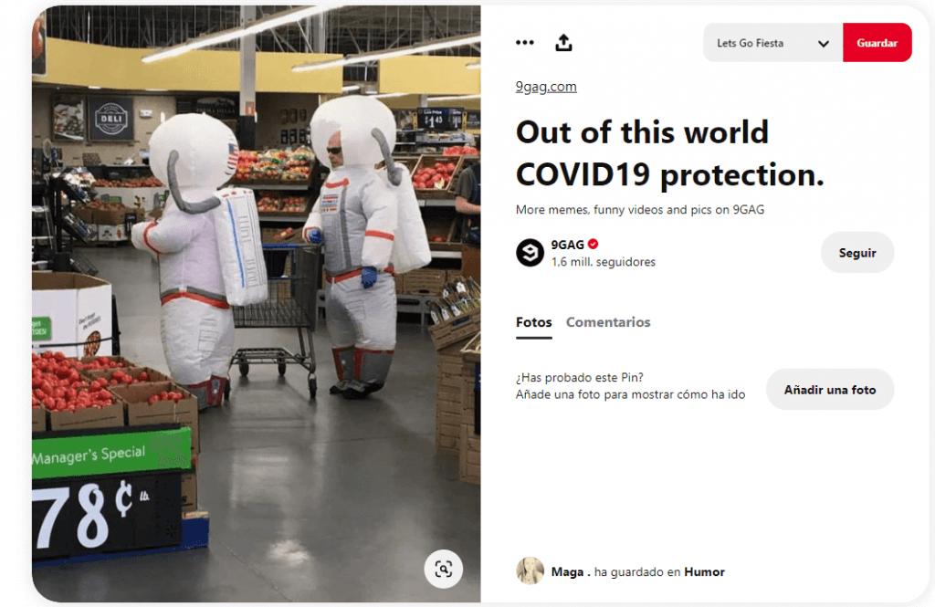 Disfraces originales durante pandemia coronavirus austronautas