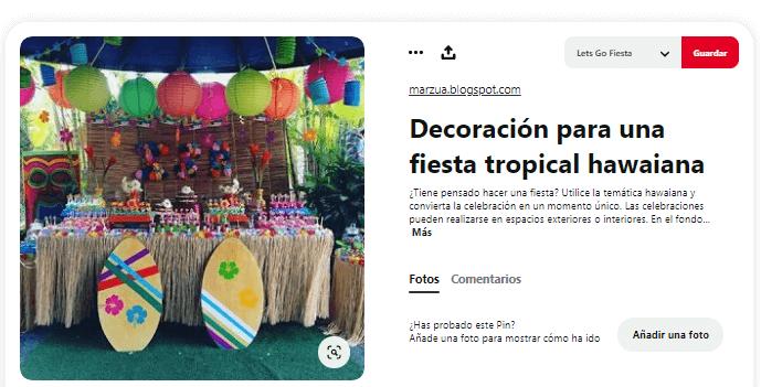 Organizar fiesta de verano decoracion hawaiana ideas