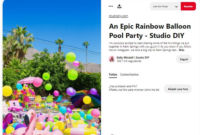 Organizar fiesta de verano decoración pool party