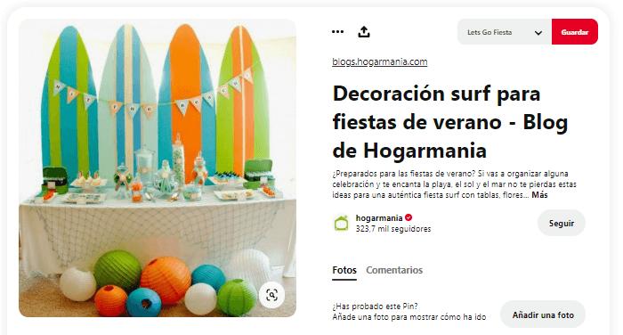 Organizar fiesta de verano decoracion surf