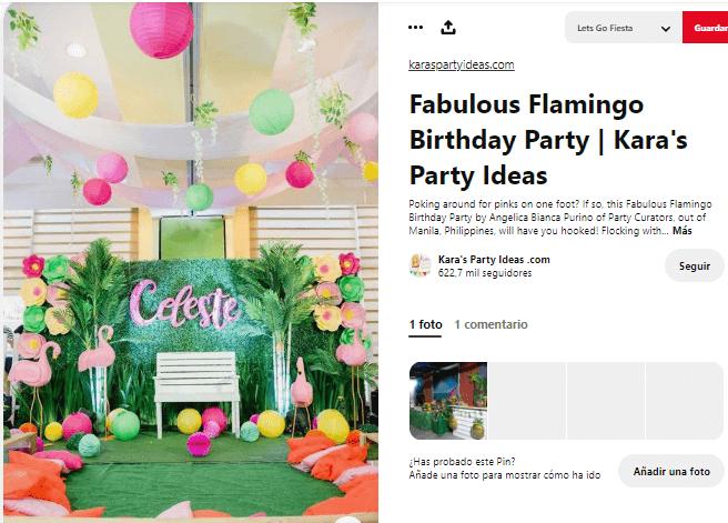 Organizar fiesta de verano decorar flamencos