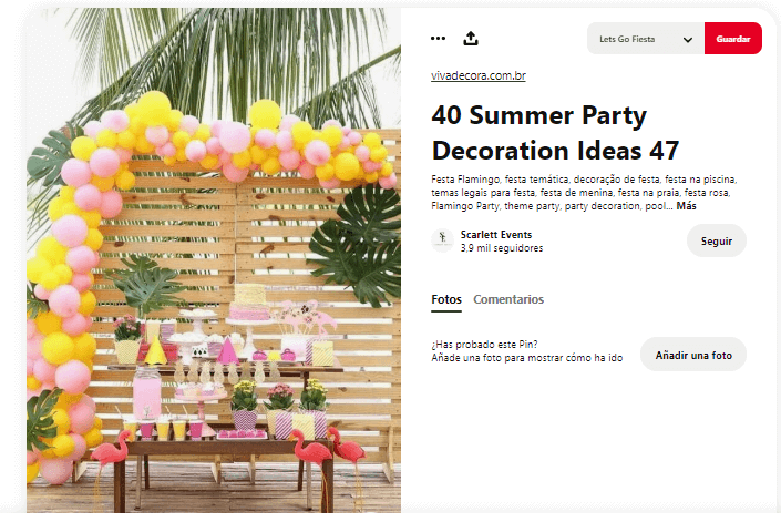 Organizar fiesta de verano decorar mesa tropical