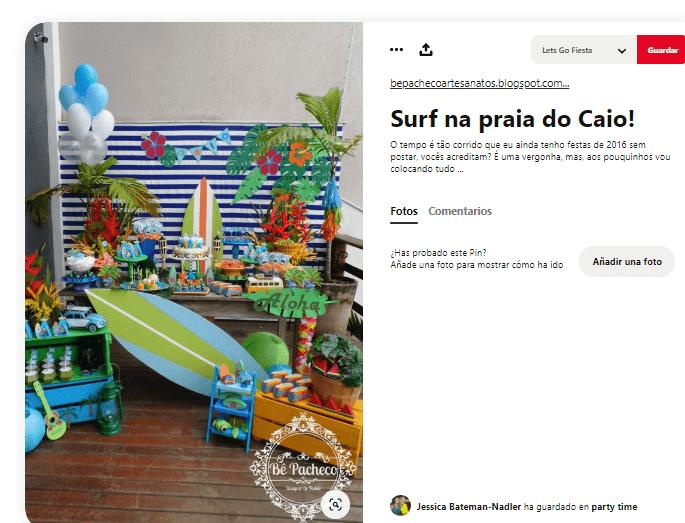 Organizar fiesta de verano decorar surferos