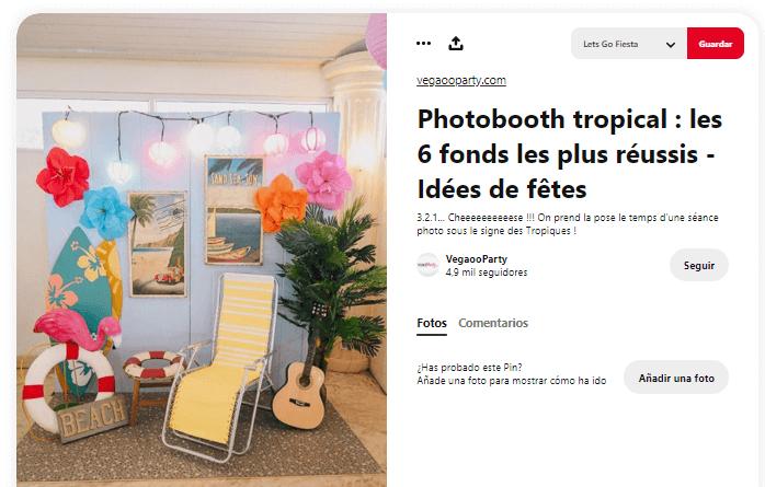 Organizar fiesta de verano photocall tropical