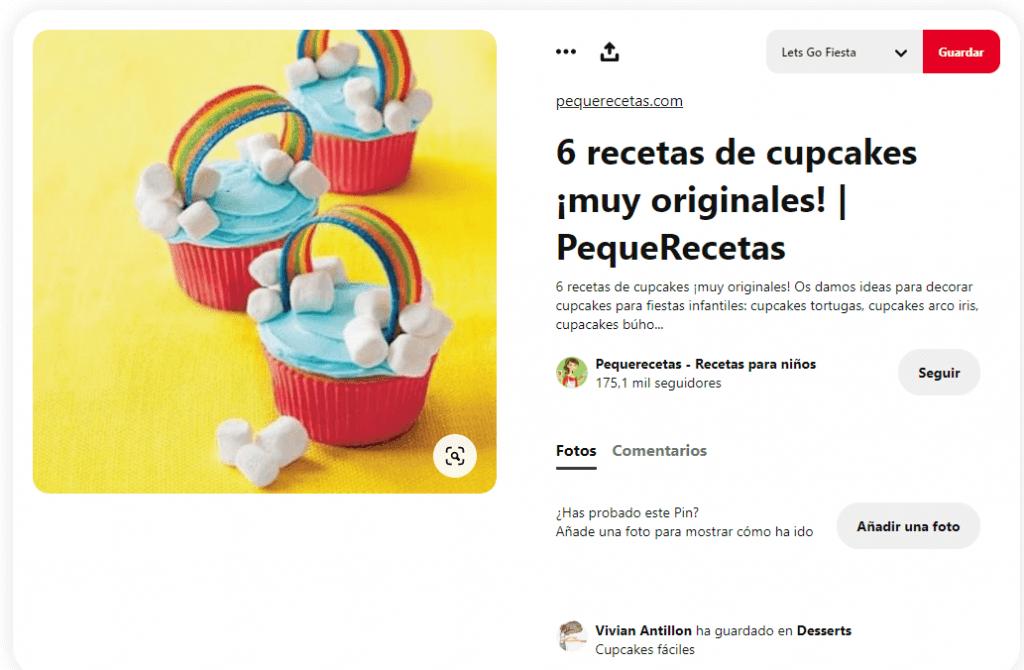 Recetas cupcakes faciles para niños arcoiris