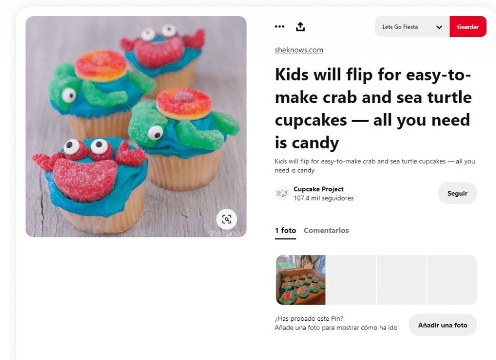 Recetas cupcakes faciles para niños con chuches