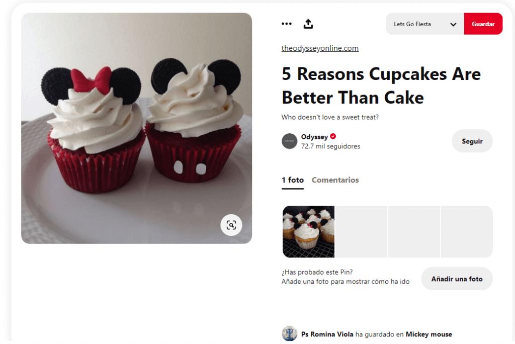Recetas cupcakes faciles para niños mickey minnie mouse