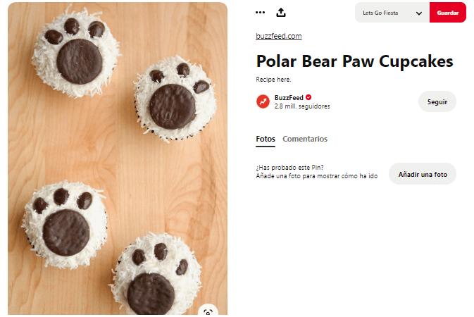 Recetas cupcakes faciles para niños oso polar