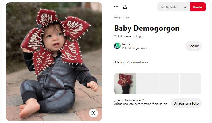 Stranger things disfraces caseros demogorgon bebe