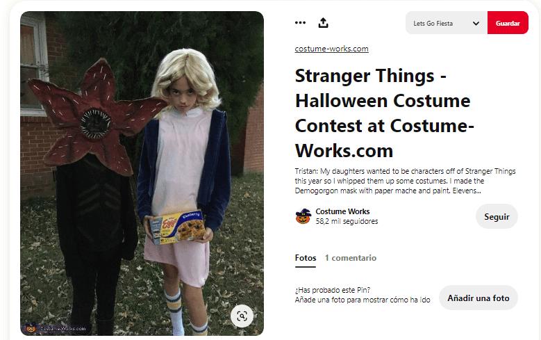 Stranger things disfraces caseros demogorgon