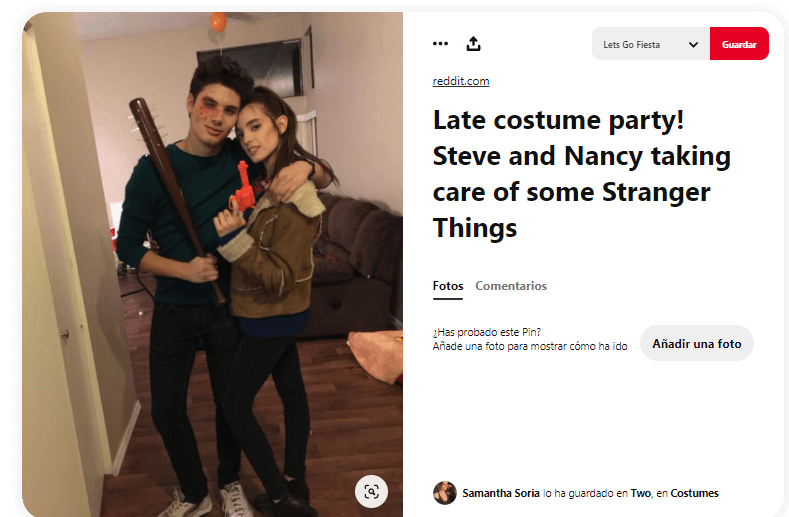 Stranger things disfraces caseros personajes Steve Nancy
