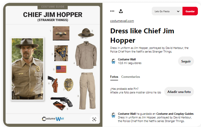 Stranger things disfraces caseros personajes jim hopper
