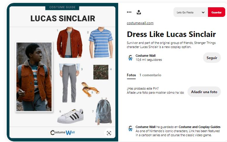 Stranger things disfraces caseros personajes lucas