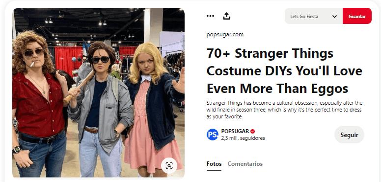 Stranger things disfraces caseros