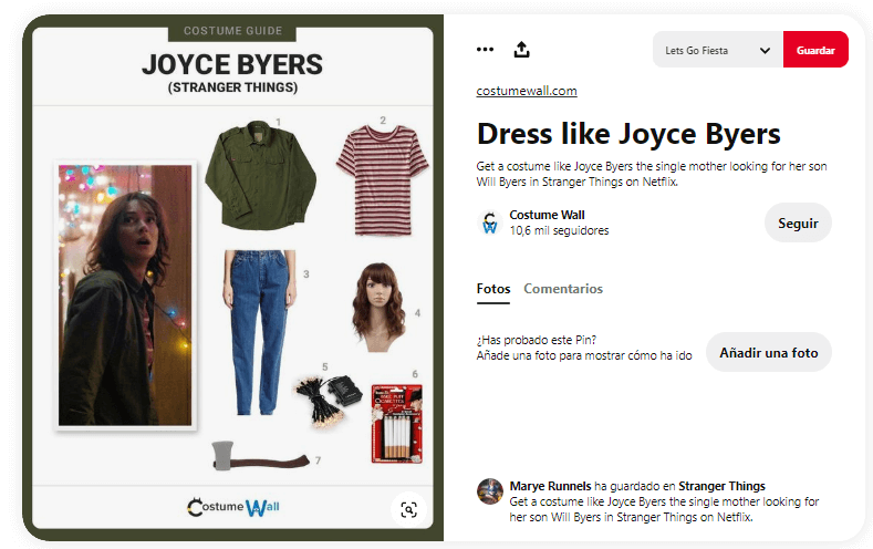 Stranger things disfraces dyi joyce