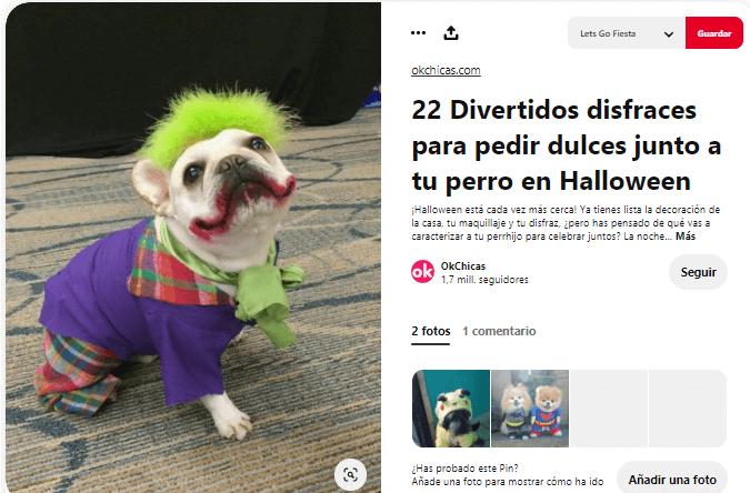 disfraces para perros halloween joker