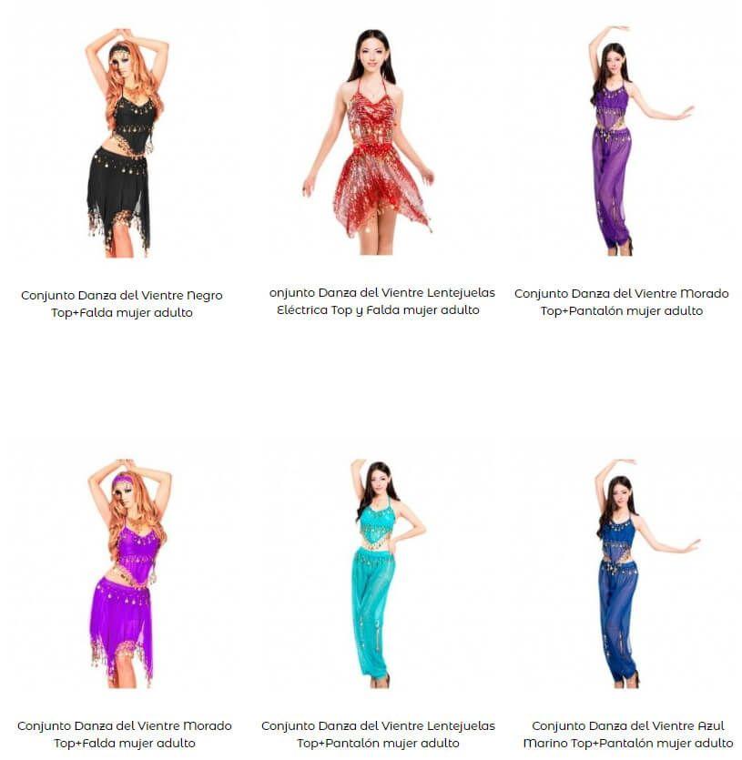 disfraz danza del vientre mujer