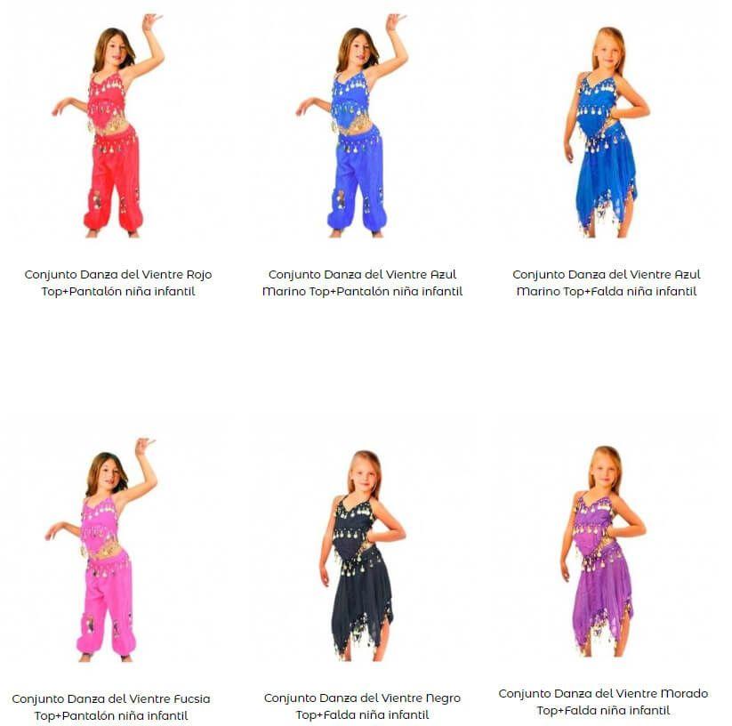 Disfraz danza del vientre niña