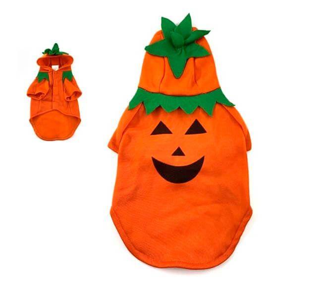disfraz para perro calabaza capucha halloween