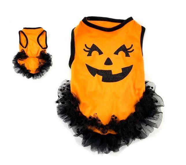 disfraz para perro calabaza halloween