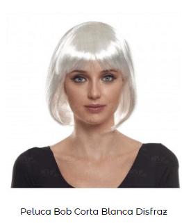 Beetlejuice peluca blanca corta