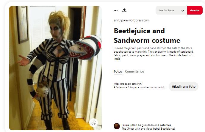 Disfraces de Beetlejuice adulto casero