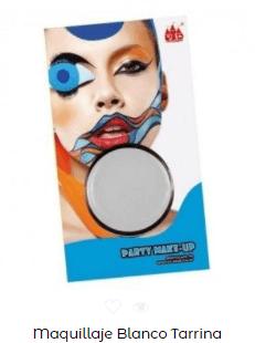 Disfraz Beetlejuice maquillaje base blanco