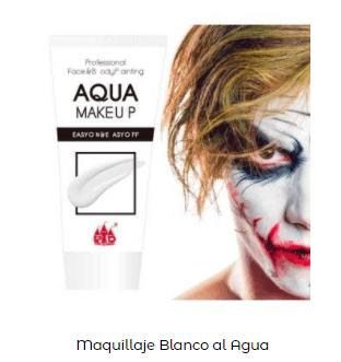 Disfraz Beetlejuice maquillaje blanco cara