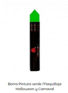 Disfraz Beetlejuice maquillaje pintura verde