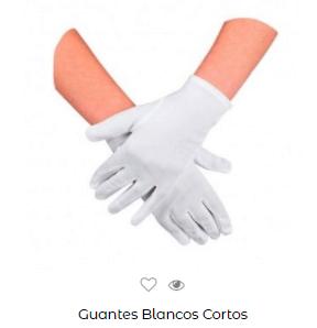Disfraz saw halloween adulto guantes blancos